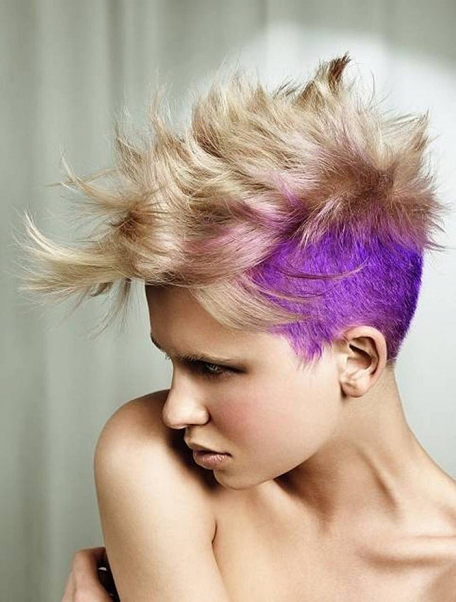 Well Known Spiky Mohawk Hairstyles With Pink Peekaboo Streaks With Regard To 21 Short And Spiky Haircuts For Women (View 17 of 20)
