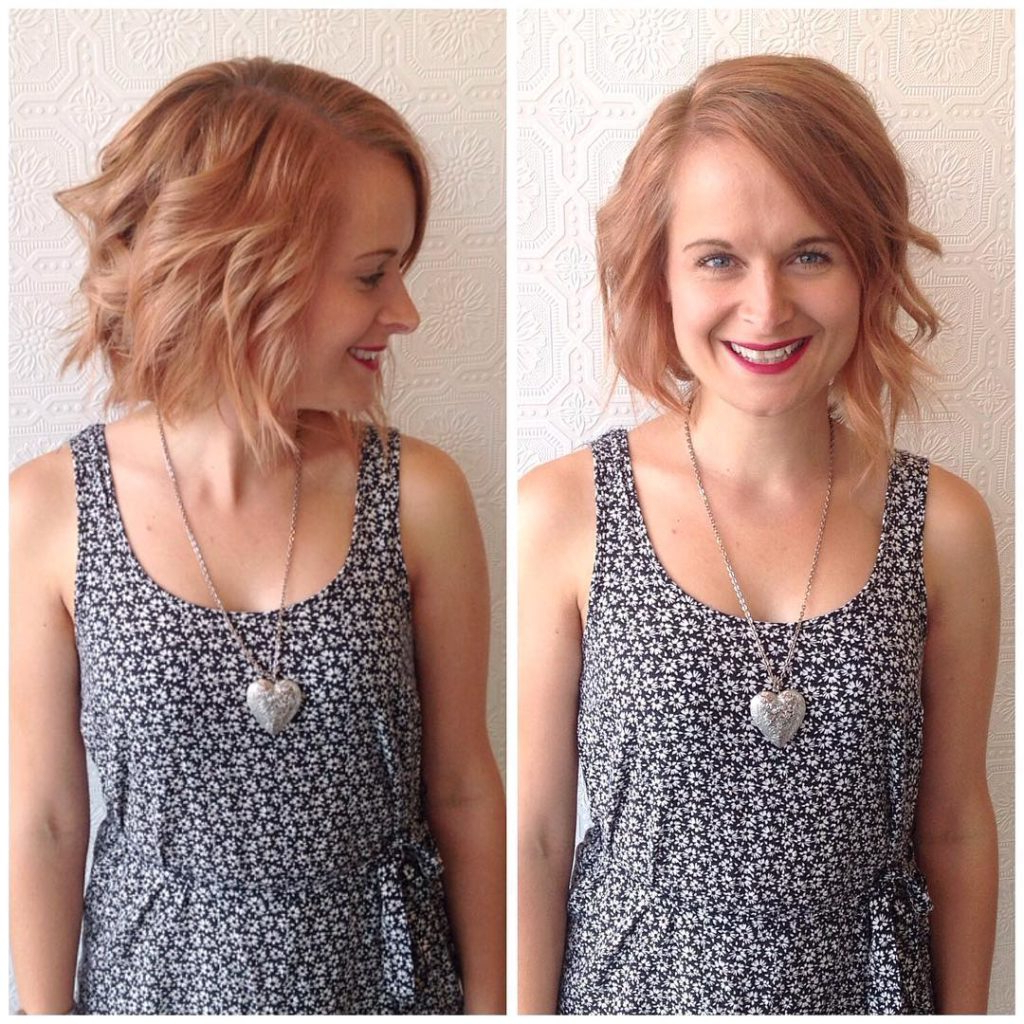 Well Known Strawberry Blonde Medium Haircuts With Women's Wavy Strawberry Blonde Bob With Side Swept Bangs Medium (View 19 of 20)