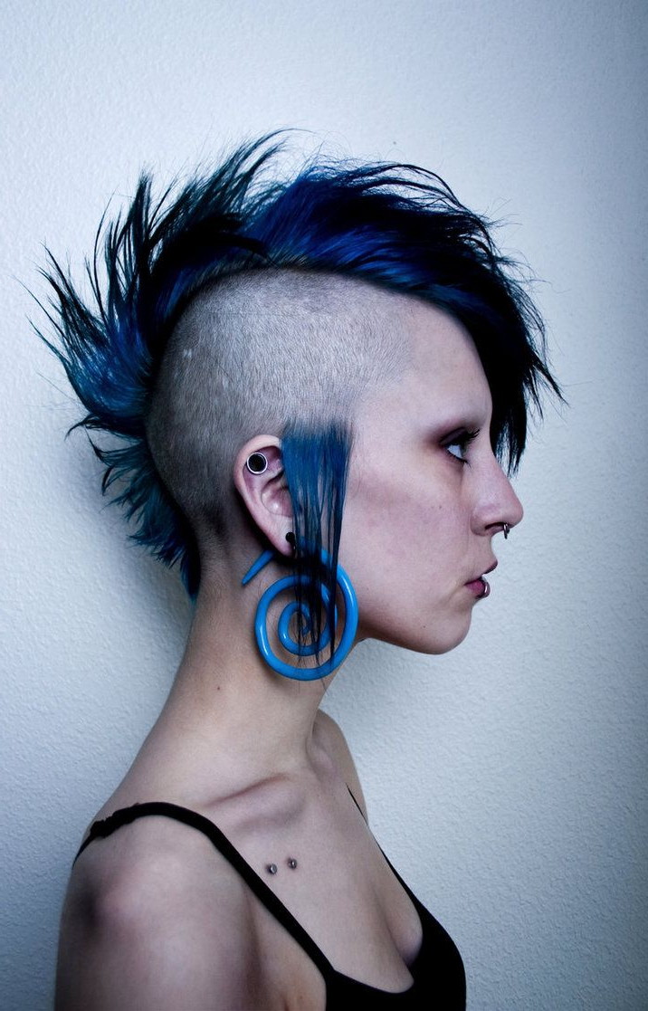 Well Known Stunning Silver Mohawk Hairstyles Throughout Awesome Blue Mohawk (View 19 of 20)