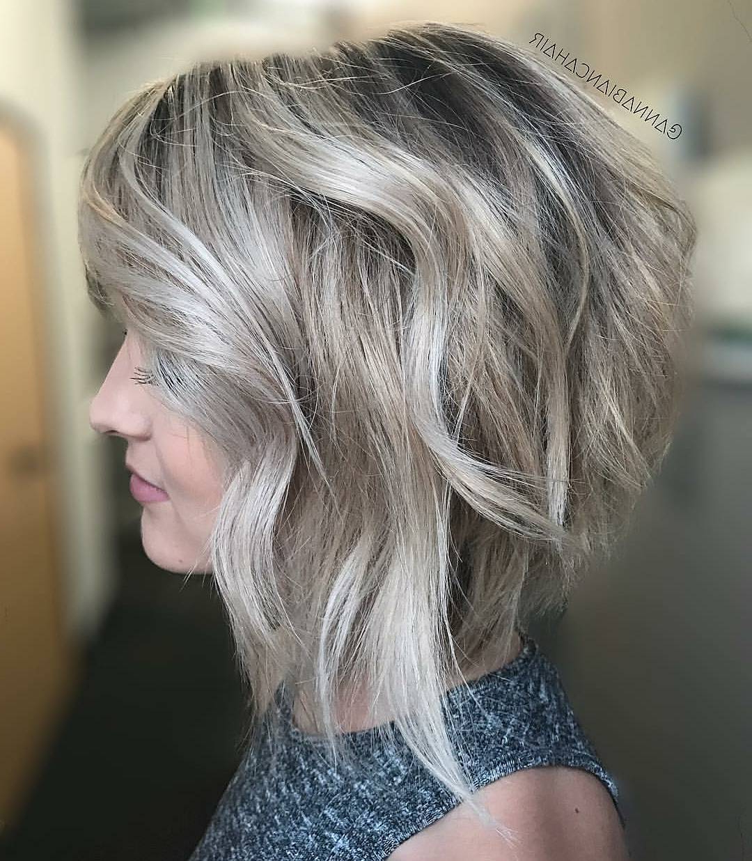 Well Liked Chic Medium Haircuts With Regard To Chic Medium Bob Haircut For Women, Shoulder Length Bob Hairstyle (View 20 of 20)
