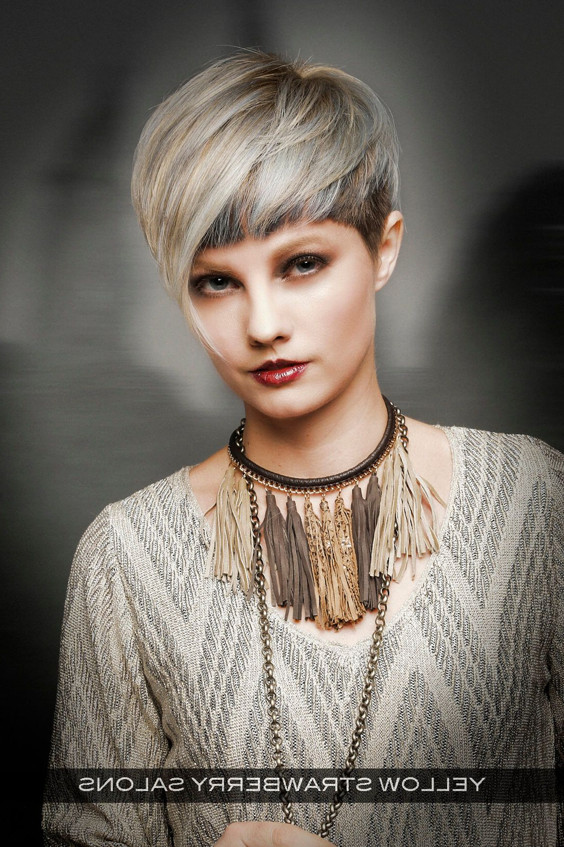 Well Liked Cropped Medium Hairstyles Within 26 Flattering Short Hair With Bangs To Try For  (View 20 of 20)