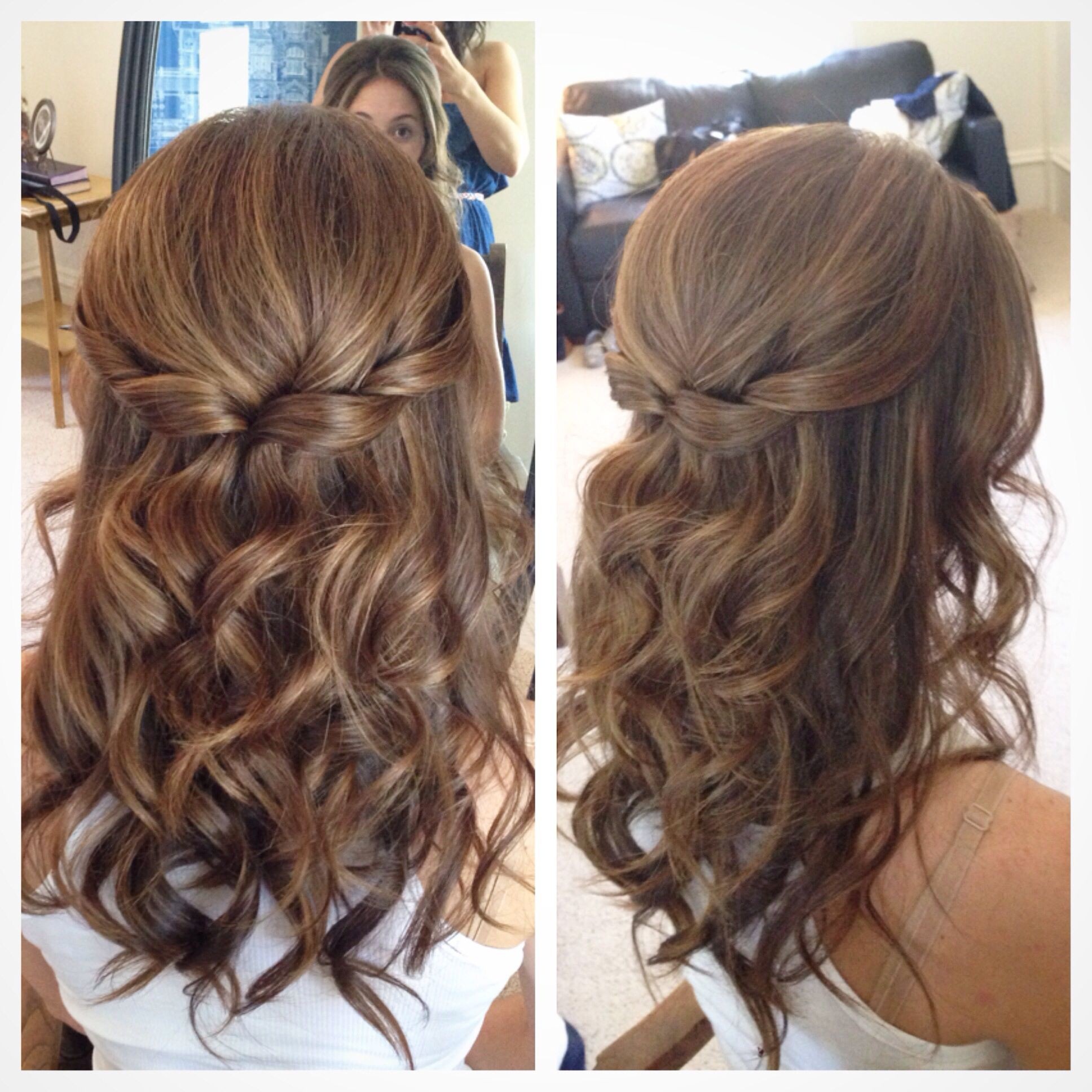 Well Liked Down Medium Hairstyles With Half Up Half Down Wedding Hairstyles For Medium Length Hair (View 4 of 20)