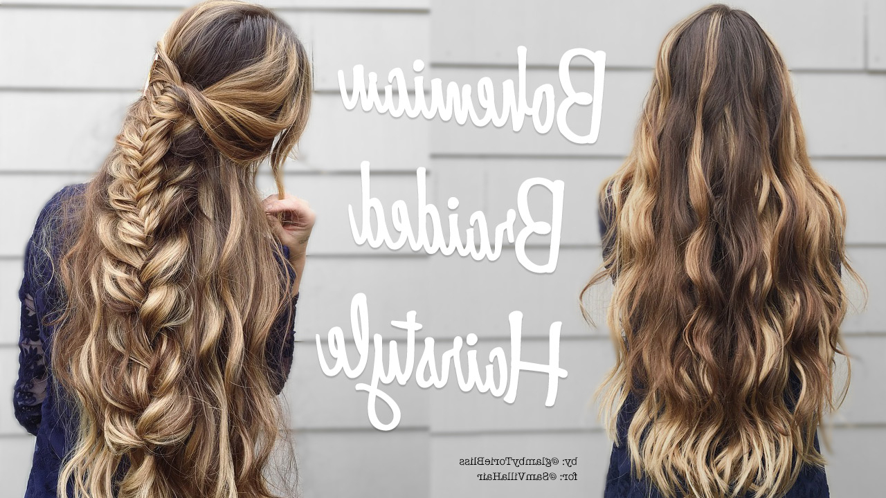 Well Liked Effortlessly Tousled Hairstyles Pertaining To Effortless Diy Bohemian Braided Hairstyle (View 10 of 20)