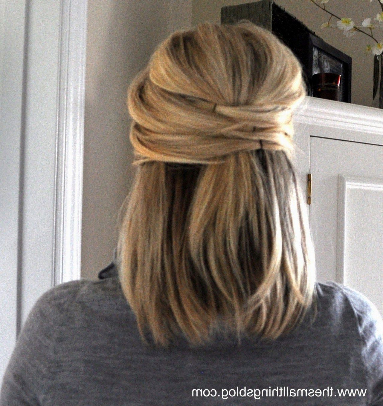 Well Liked Elegant Medium Hairstyles For Weddings Throughout Elegant Wedding Hairstyles For Medium Length Hair (View 4 of 20)