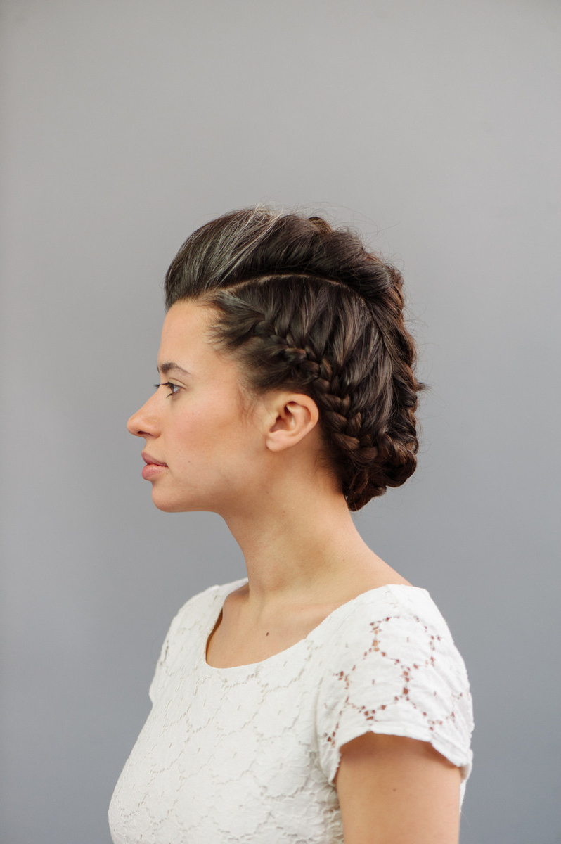 Well Liked French Braid Pinup Faux Hawk Hairstyles With Regard To How To: High Fashion Faux Hawk (View 20 of 20)