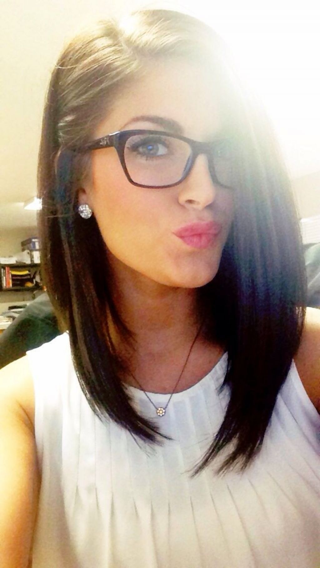 Well Liked Medium Hairstyles For Women With Glasses Pertaining To Long Angled Bob Hairstyles (View 18 of 20)