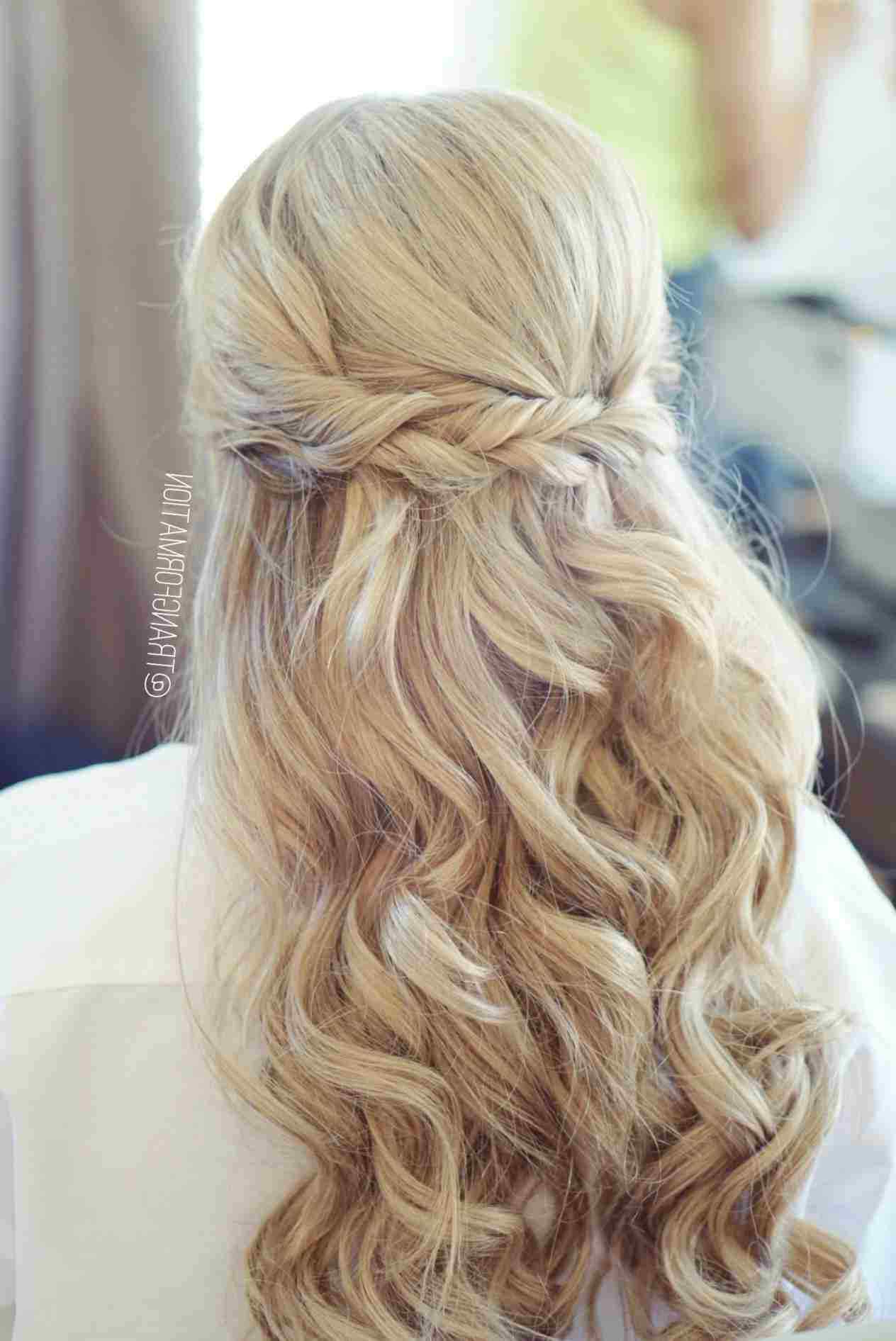 Well Liked Medium Hairstyles Half Up Pertaining To Wedding Hairstyles Half Up Half Down Medium Length Curls New (View 19 of 20)