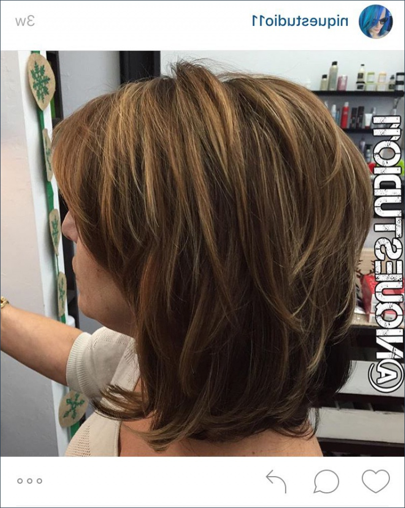 Well Liked Medium Hairstyles With Layers Throughout Great Hairstyles Layered Short To Medium Length (View 19 of 20)