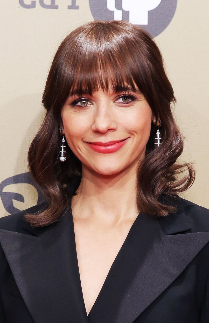 Well Liked Medium Hairstyles With Straight Bangs Regarding 112 Hairstyles With Bangs You'll Want To Copy – Celebrity Haircuts (View 13 of 20)