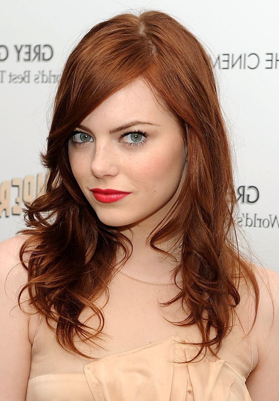 Well Liked Red Hair Medium Haircuts Inside Redheads, The Best Haircut For Your Shape Face (View 11 of 20)
