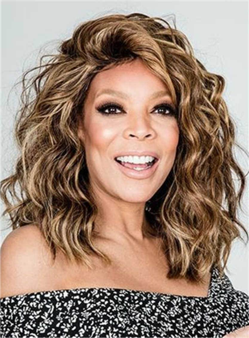 Wendy Williams Medium Messy Loose Curly Human Hair Lace Front Cap Regarding Widely Used Medium Hairstyles Loose Curls (View 19 of 20)