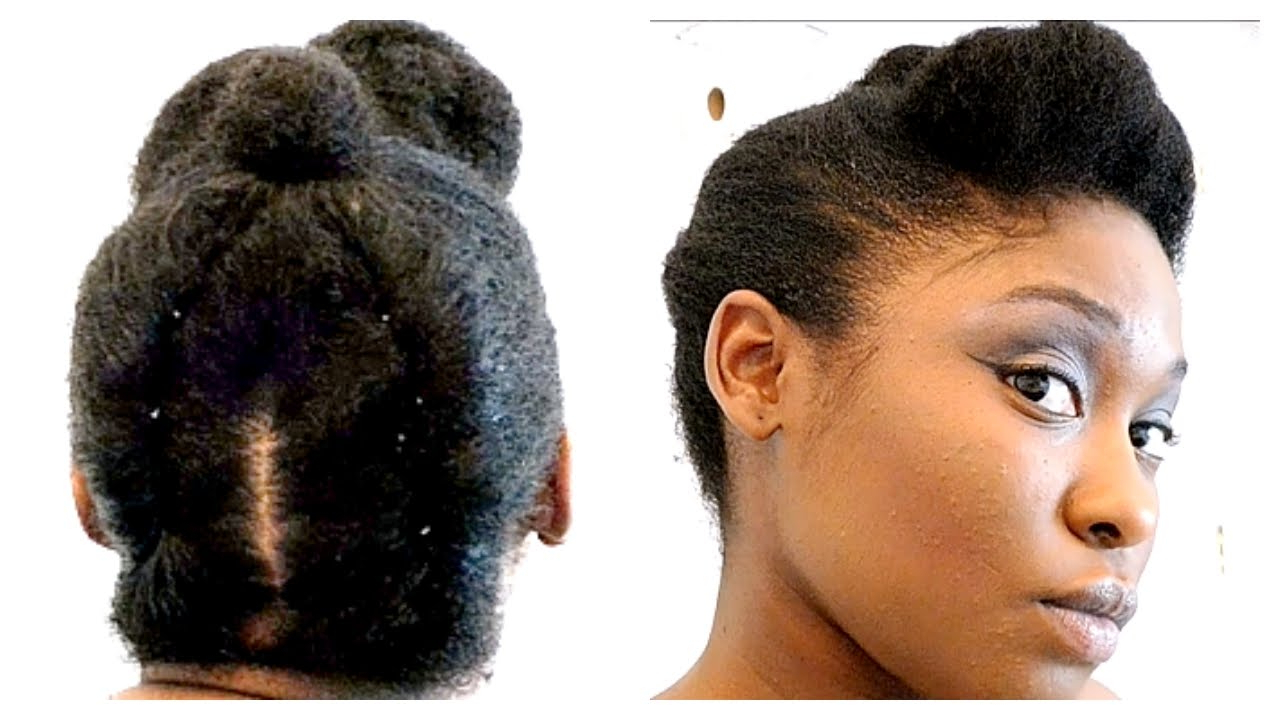 Widely Used 4c Medium Hairstyles Throughout Quick Professional Natural Hairstyle For Work On 4b/4c Short/medium (View 17 of 20)