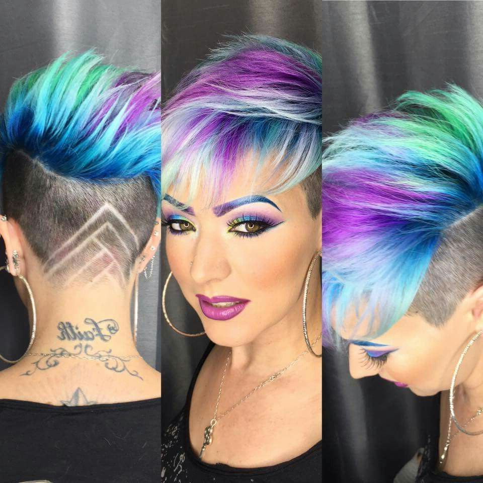 Widely Used Funky Pink Mohawk Hairstyles Intended For Hate The Cut But The Colors Are Phenomenal (Gallery 5 of 20)
