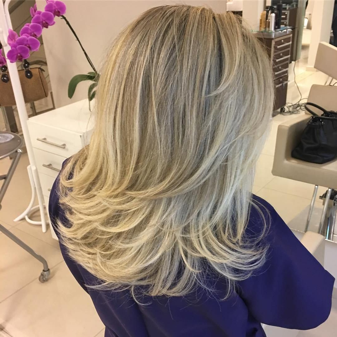 Widely Used Longer Hairstyles With Feathered Bottom Regarding 70 Brightest Medium Layered Haircuts To Light You Up (View 1 of 20)
