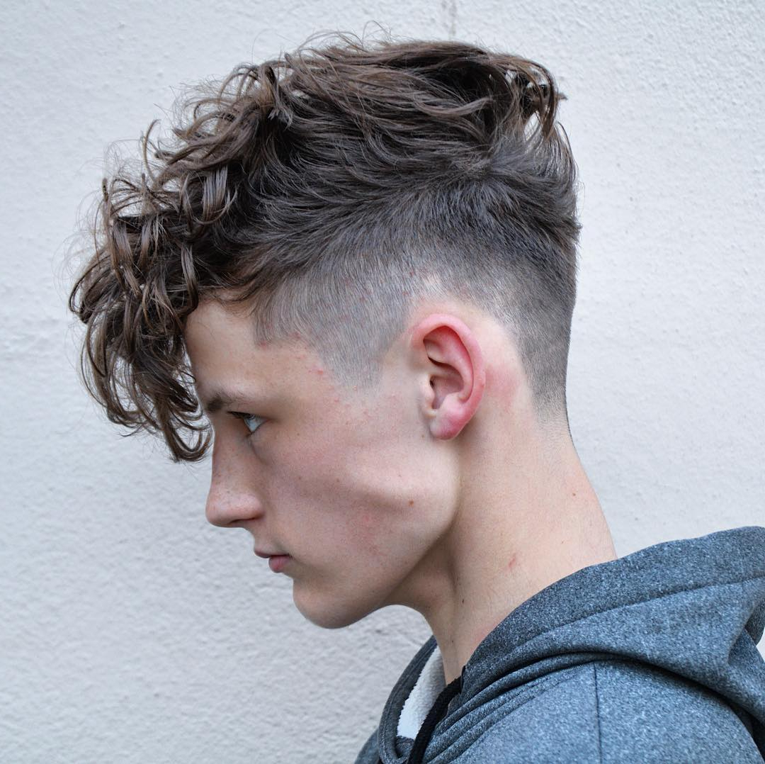 Widely Used Medium Haircuts For High Foreheads With Regard To 25 High Fade Haircuts (View 20 of 20)
