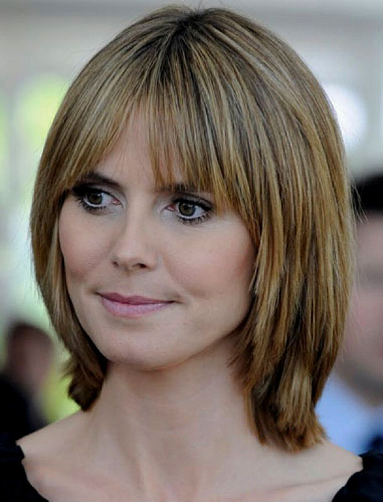 Widely Used Medium Haircuts With Bangs For Fine Hair Within Medium Length Layered Hairstyles No Bangs (View 13 of 20)