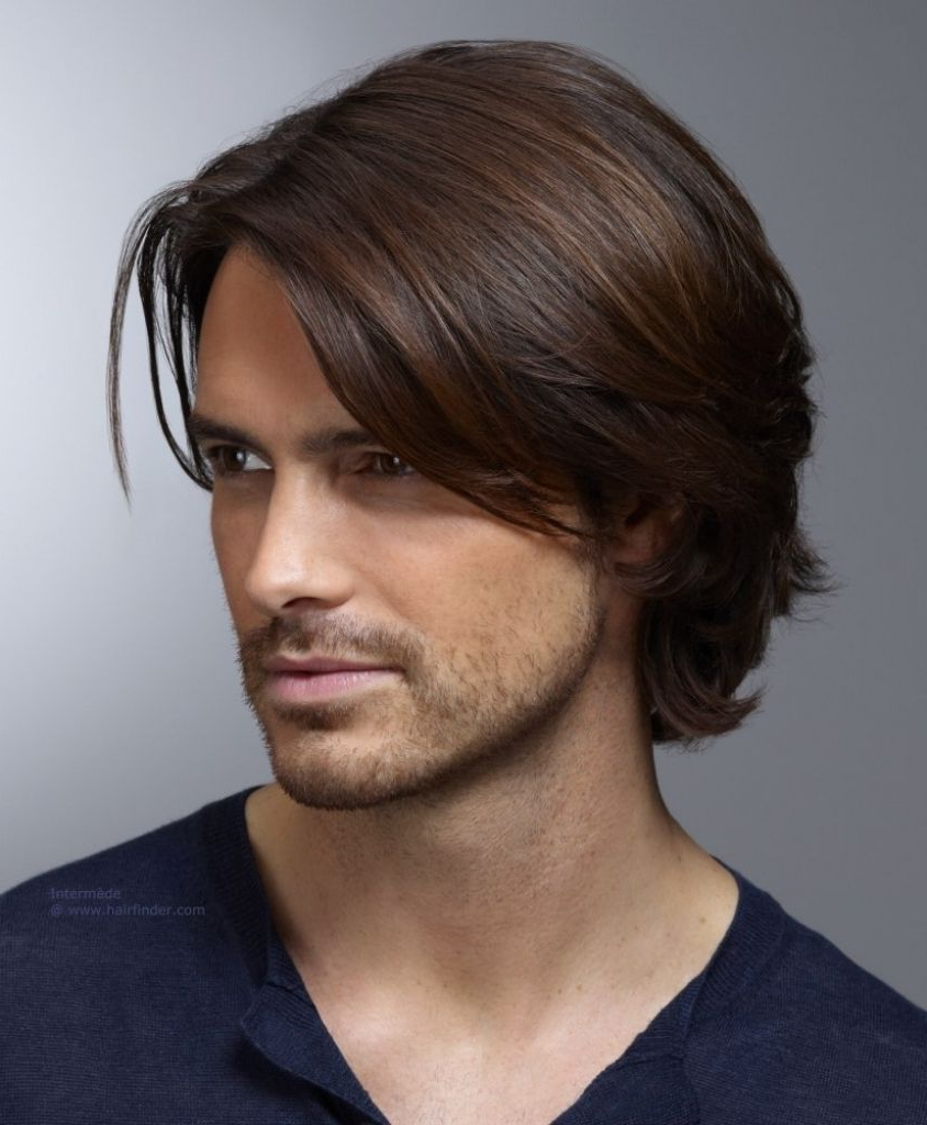 Widely Used Medium Hairstyles Cut Around The Ears With Long Male Haircut Men39S Hairstyle With Ear Long Top Hair And Curls (View 19 of 20)