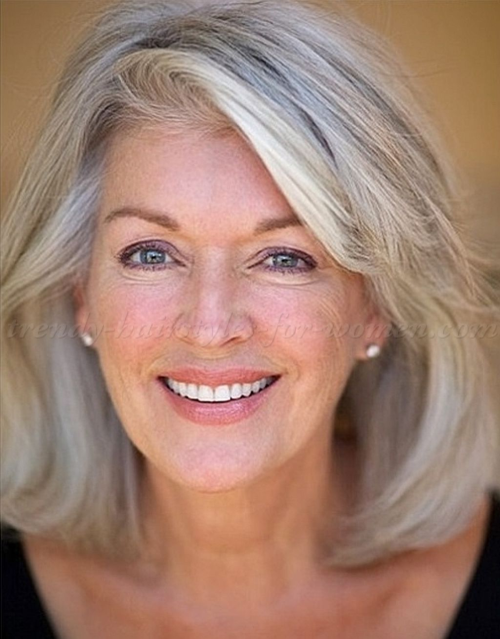 Widely Used Medium Hairstyles For Women With Gray Hair Inside Image Result For 2017 Hairstyles For Medium Hair For Gray Hair On (View 1 of 20)