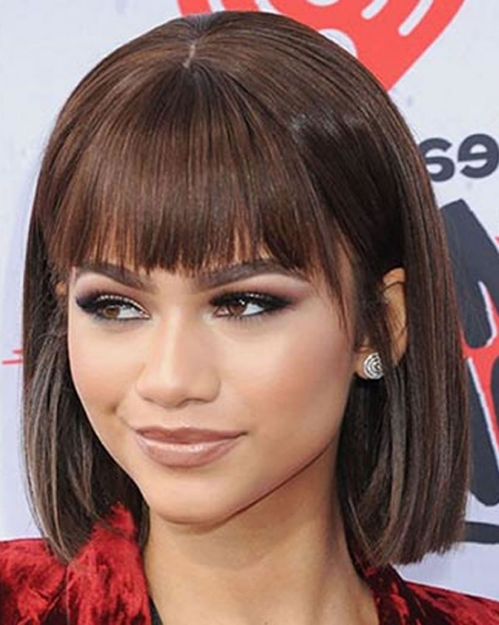 Widely Used Medium Hairstyles With A Fringe In Women Hairstyle : Wavy Bob With Bangs Black Hairstyles Fringe Long (View 14 of 20)
