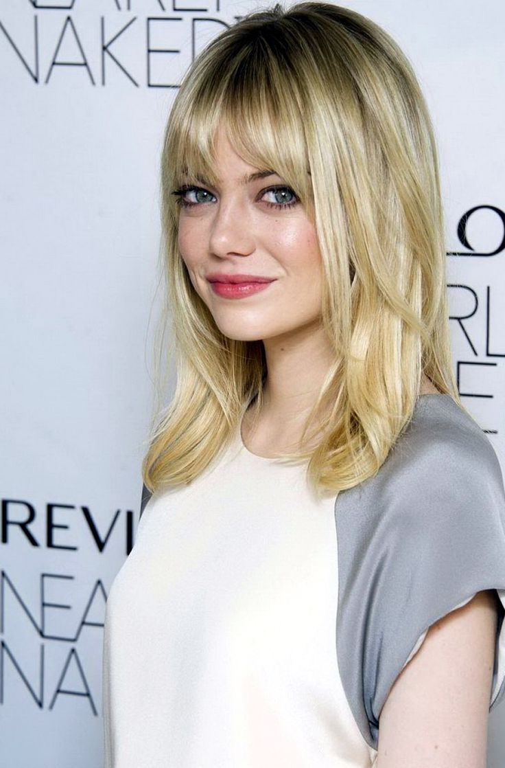 Widely Used Medium Hairstyles With A Fringe Pertaining To Image Result For Medium Length Haircut With Bangs (View 13 of 20)