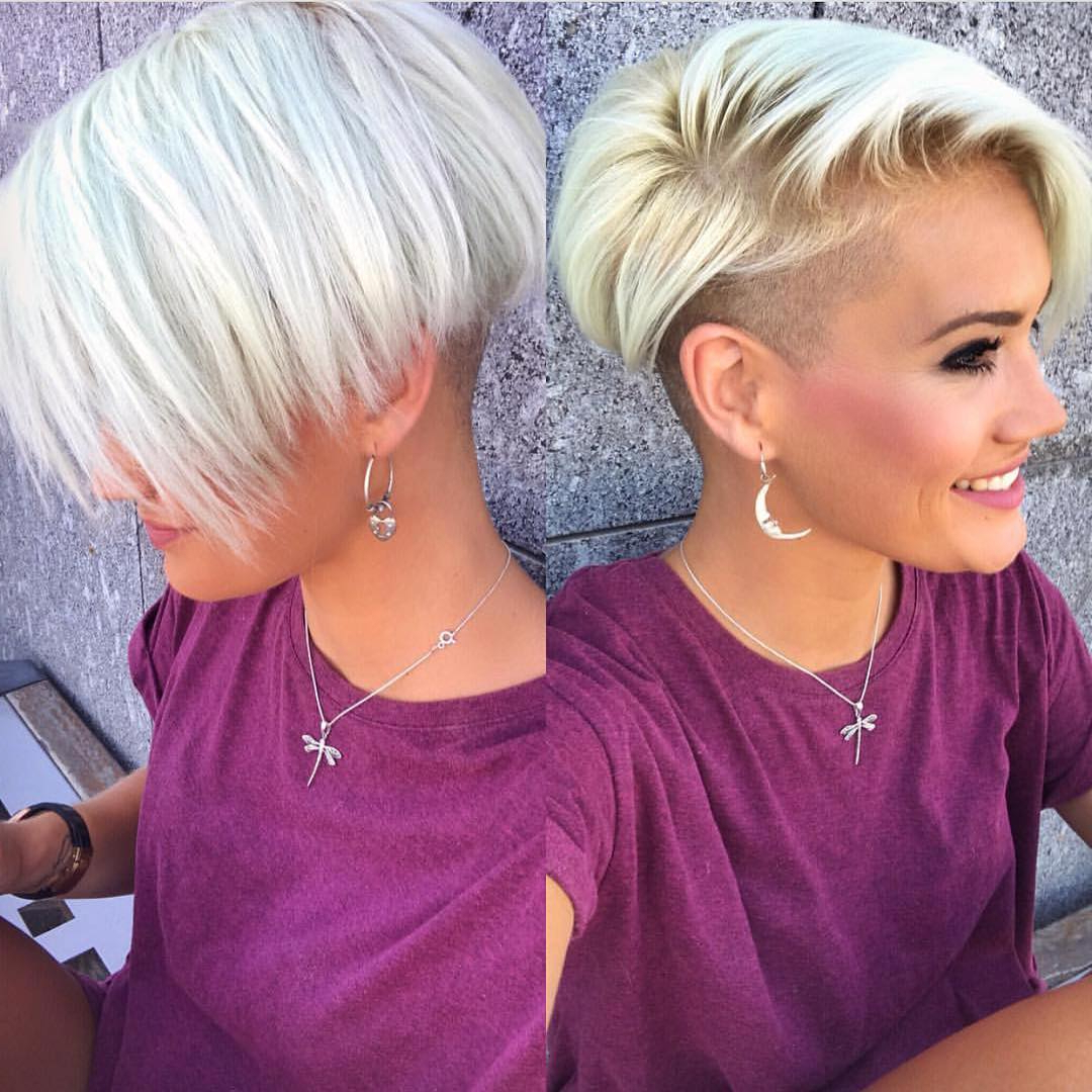 Widely Used Medium Hairstyles With Both Sides Shaved Within 10 Chic Shaved Haircuts For Short Hair (View 19 of 20)