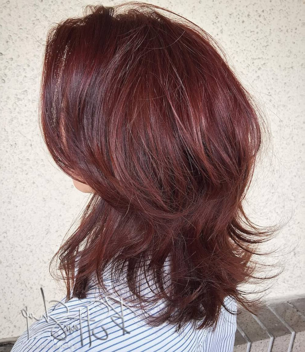 Widely Used Medium Hairstyles With Feathered Sides Within 51 Stunning Medium Layered Haircuts (Updated For 2019) (View 20 of 20)