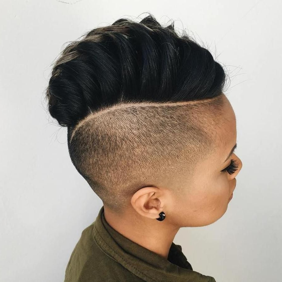 Widely Used Mohawk Hairstyles With An Undershave For Girls With 70 Most Gorgeous Mohawk Hairstyles Of Nowadays (View 3 of 20)