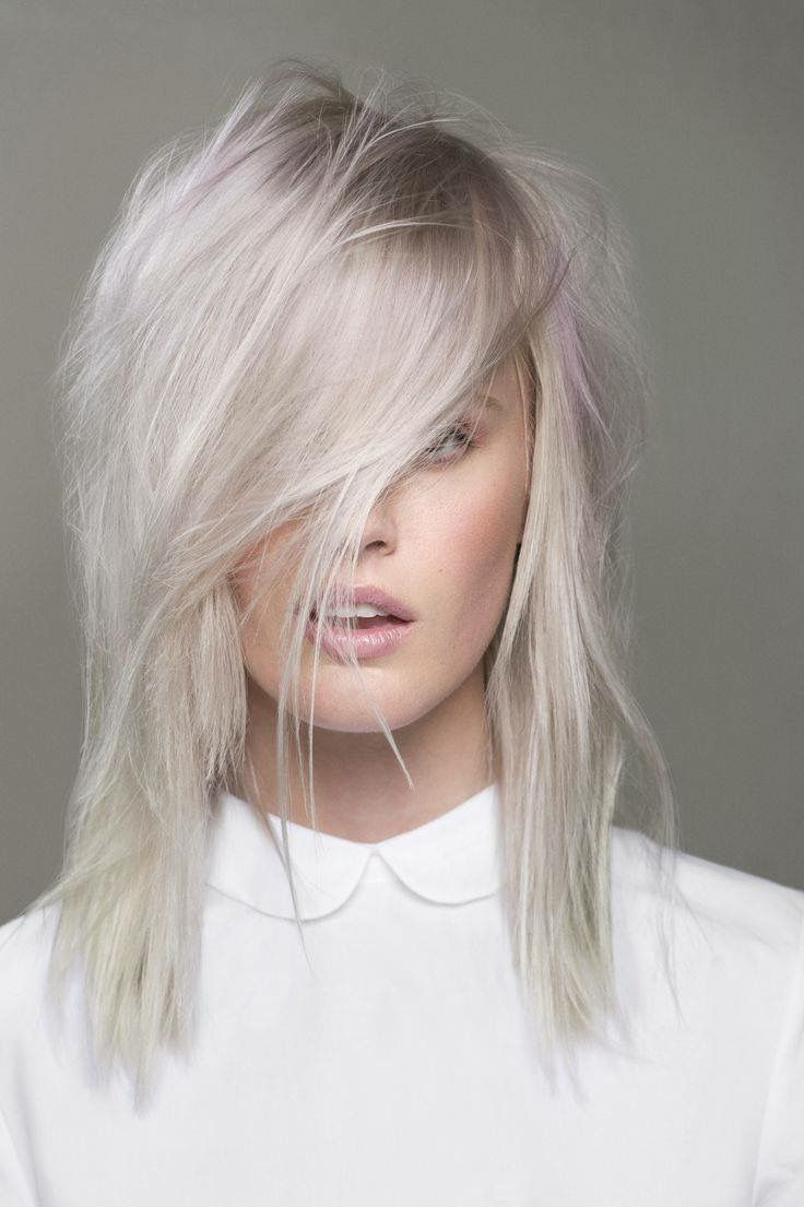 Widely Used Platinum Layered Side Part Hairstyles Within Platinum Blonde Layered Shag Meduim Length Hair With Side Layered (View 17 of 20)
