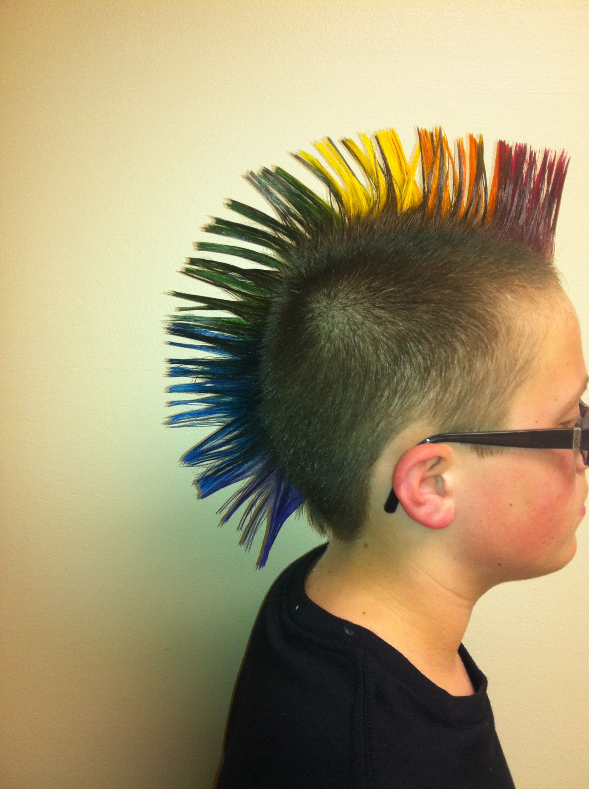 Widely Used Rainbow Bright Mohawk Hairstyles With Rainbow Mohawk! (View 19 of 20)