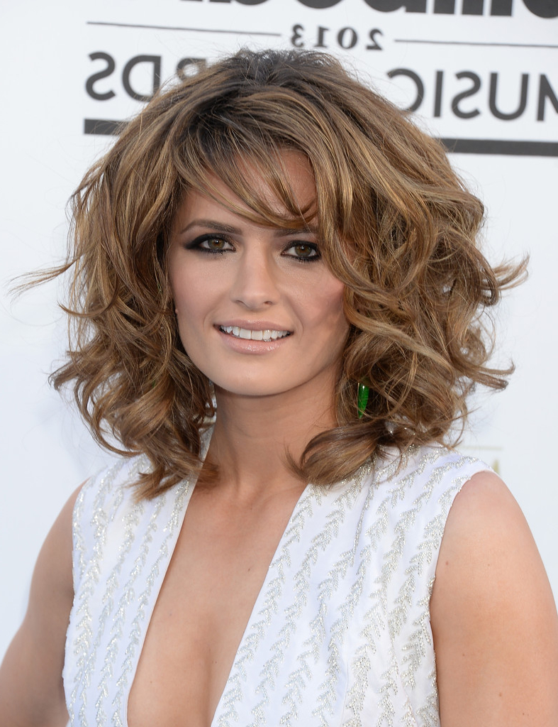 Widely Used Teased Medium Hairstyles In Stana Katic Shoulder Length Hairstyles – Stana Katic Hair – Stylebistro (View 20 of 20)