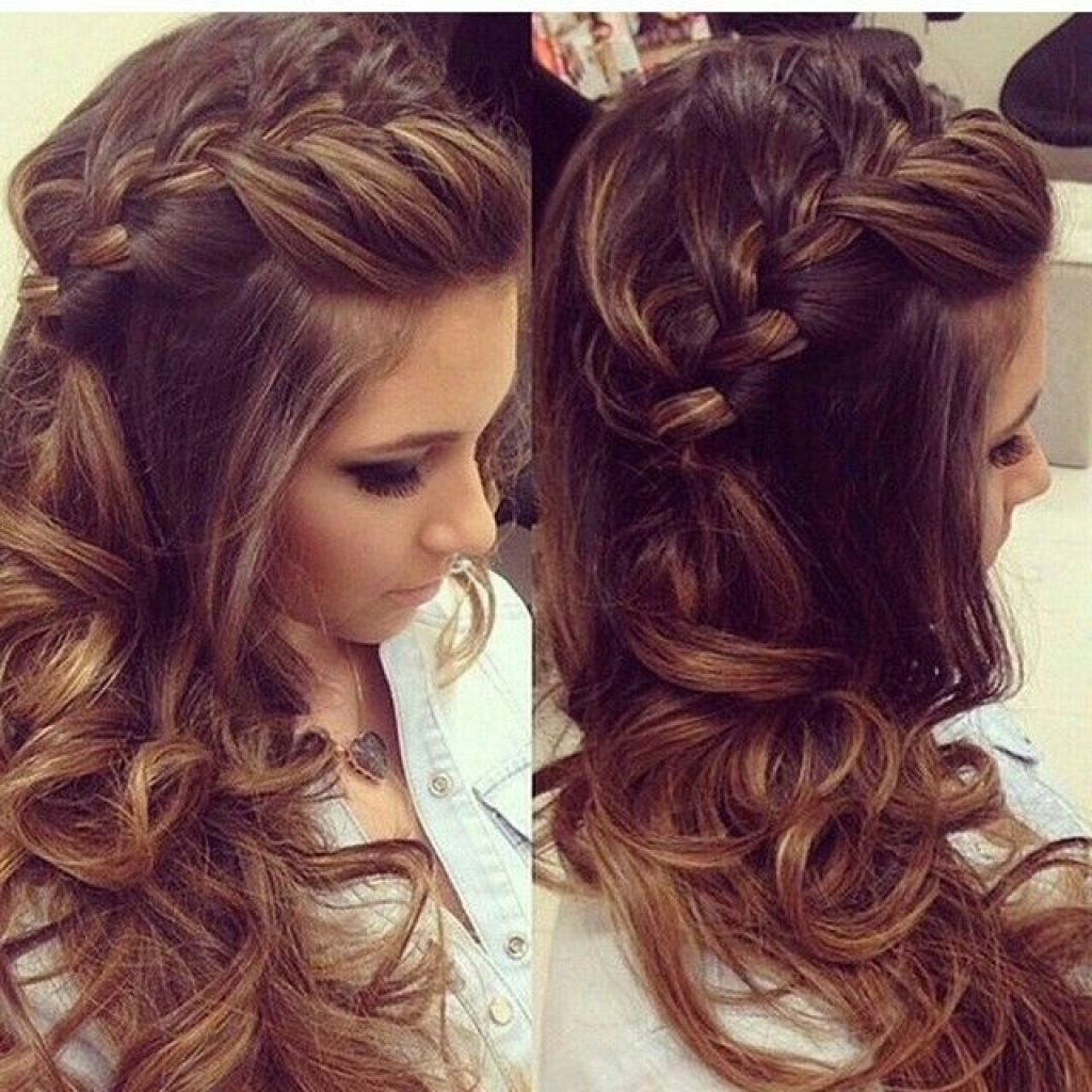 Women Hairstyle : Cute Easy Prom Hairstyles Archives Women For Curly Intended For Well Known Medium Hairstyles For Dances (View 20 of 20)