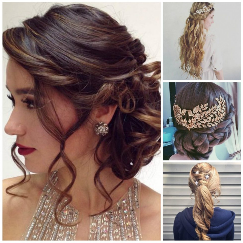 Women Hairstyle : Formal Hairstyles Evening Women Medium Haircut In Famous Medium Haircuts For Prom (View 20 of 20)