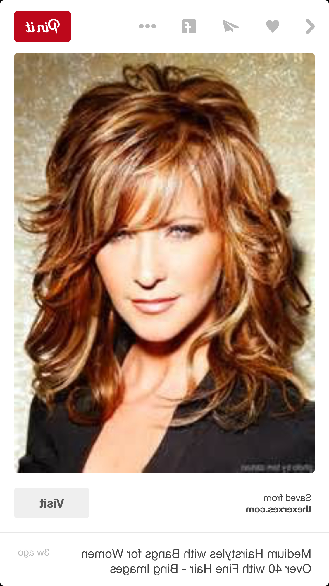 Women Hairstyle : Gorgeous Medium Long Layered Hairstyles Pin With Regard To Preferred Medium Haircuts Styles With Layers (View 20 of 20)