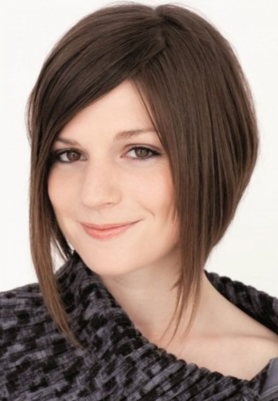 Women Hairstyle : Short Length Haircuts For Round Faces Asymmetrical Intended For Best And Newest Asymmetrical Medium Haircuts (View 20 of 20)