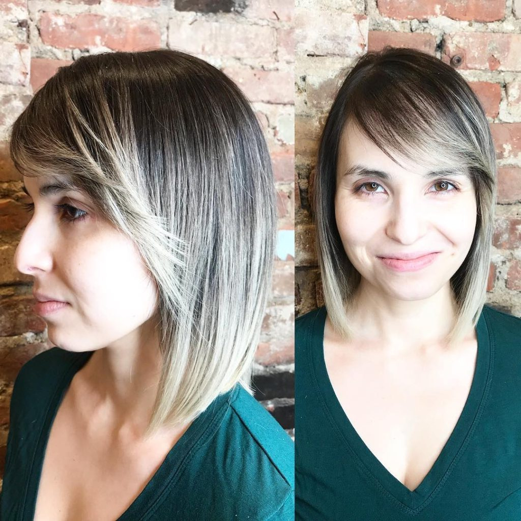 Women's Sleek Classic Bob With Flipped Side Swept Bangs And Ash Inside 2018 Flipped Medium Hairstyles (View 20 of 20)