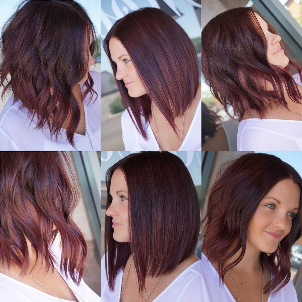 Women's Versatile Sexy Long Bob With Burgundy Color Womens Medium Intended For Popular Burgundy Bob Hairstyles With Long Layers (View 20 of 20)
