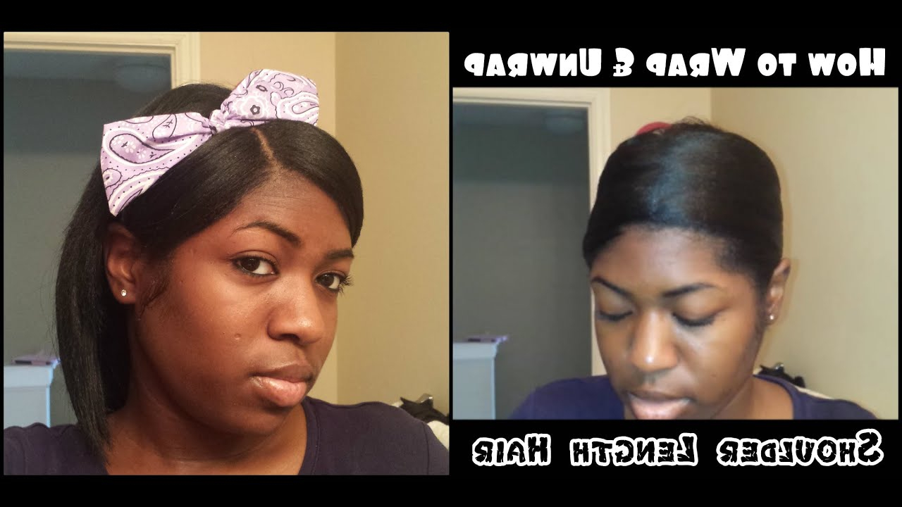 Wrapping Shoulder Length Relaxed Hair – Youtube For Most Popular Relaxed Medium Hairstyles (View 20 of 20)