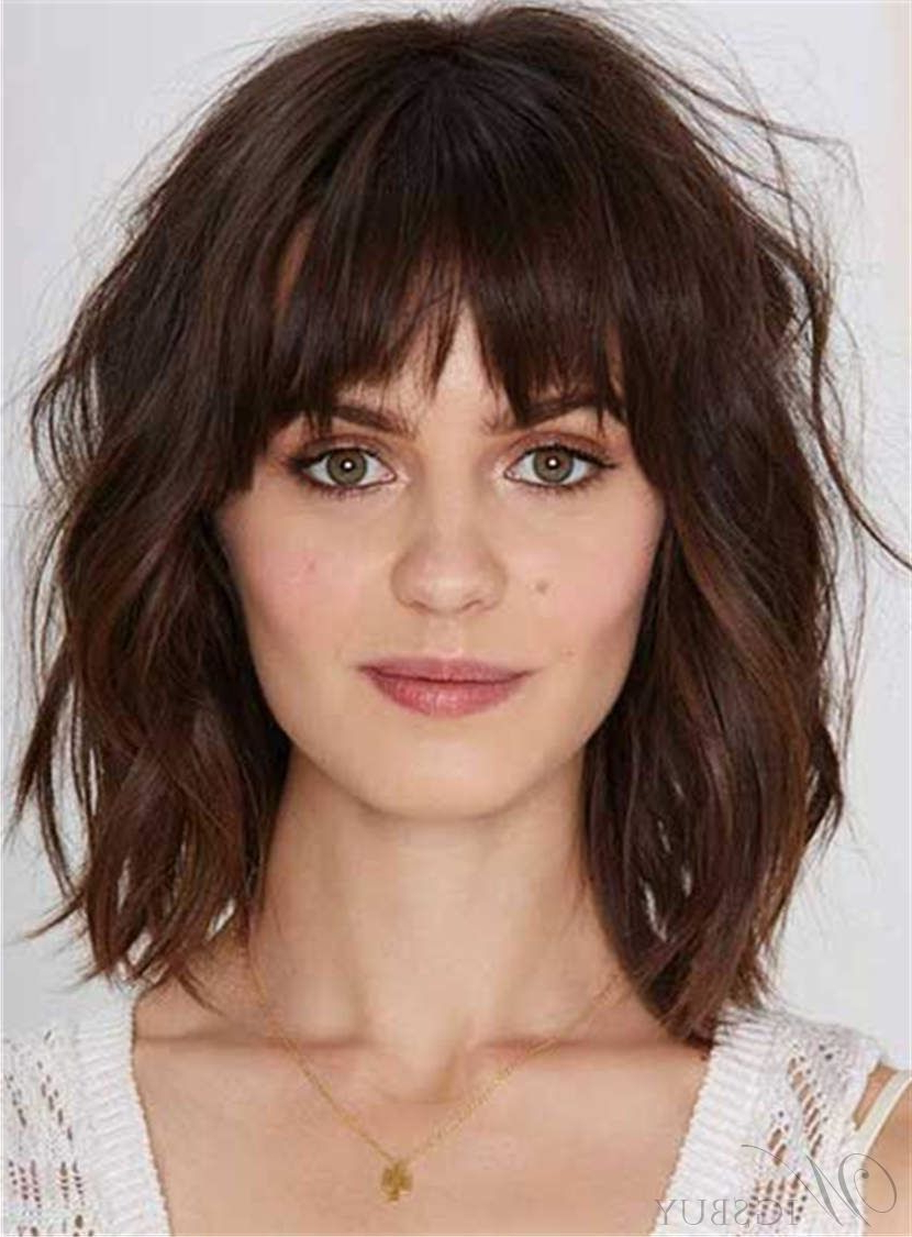 Youthful Shaggy Messy Medium Wavy Synthetic Hair Capless Women Wigs Within Recent Messy Medium Haircuts (Gallery 18 of 20)