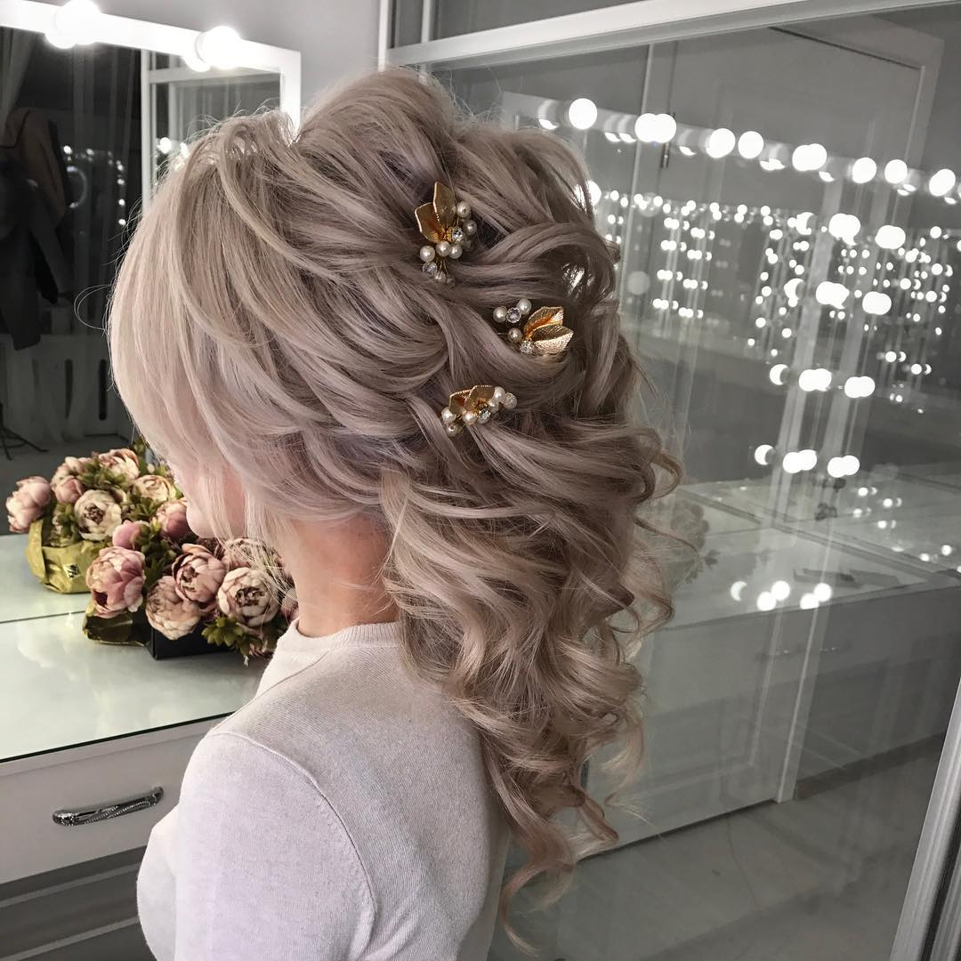 10 Lavish Wedding Hairstyles For Long Hair – Wedding Hairstyle Ideas Within Recent Half Up Blonde Ombre Curls Bridal Hairstyles (Gallery 8 of 20)