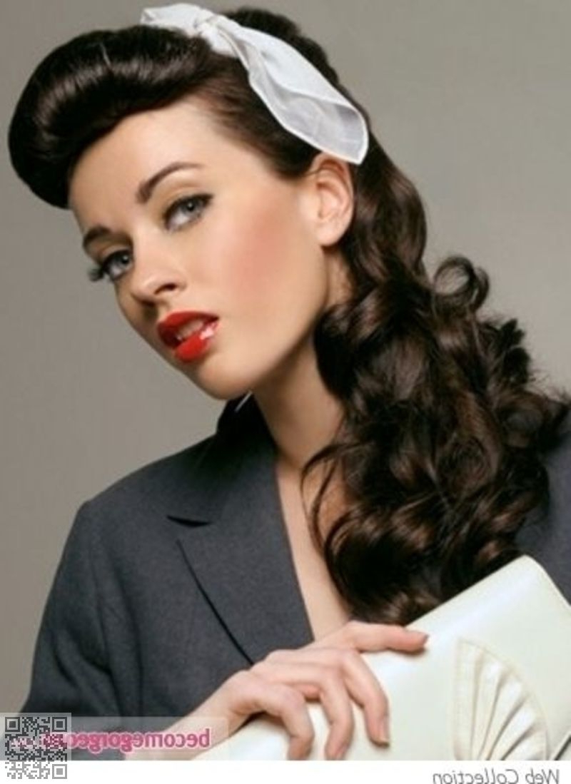 10. Long #retro Glam – 33 Ravishing Retro #hairstyles  → Hair Inside 2018 Retro Glam Wedding Hairstyles (Gallery 2 of 20)
