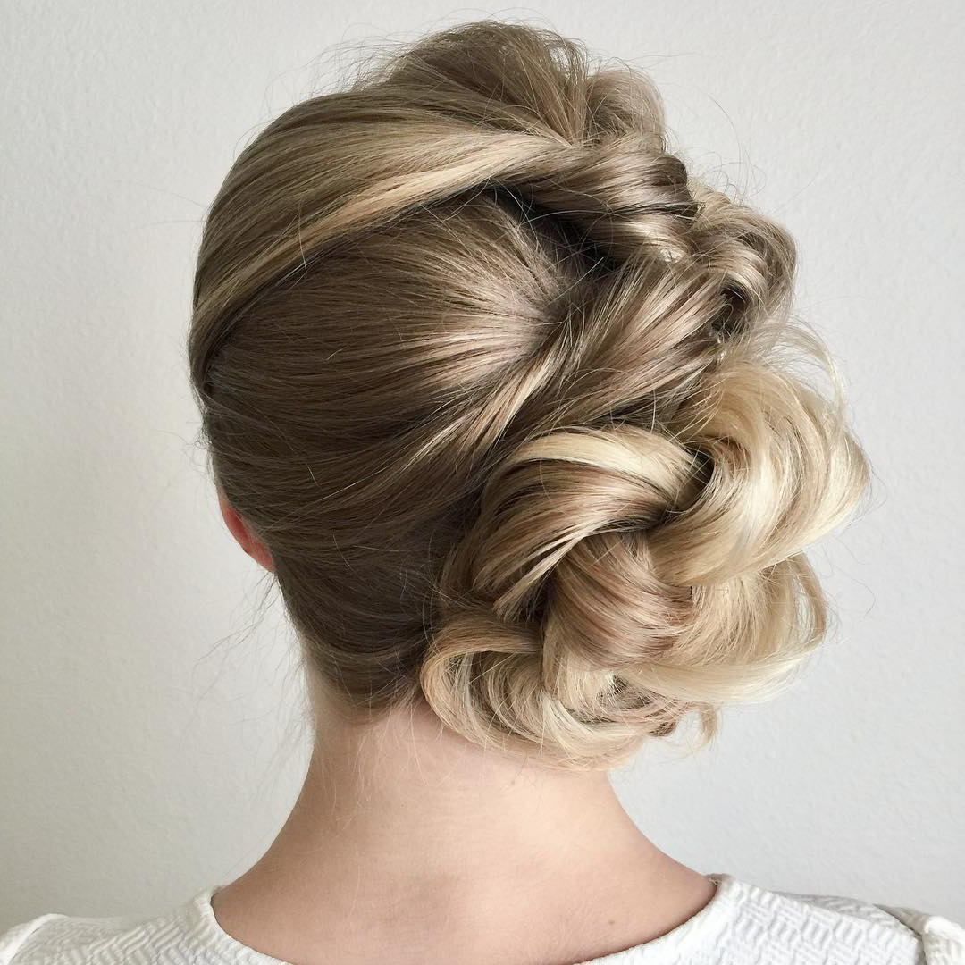 10 New Prom Updo Hair Styles 2019 – Gorgeously Creative New Looks Intended For Most Up To Date Bold Blonde Bun Bridal Updos (View 1 of 20)