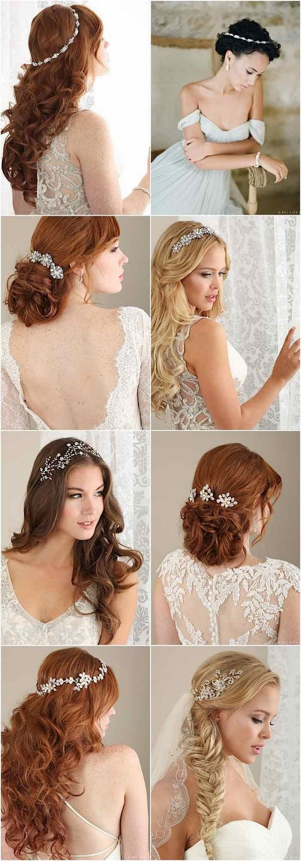 100+ Romantic Long Wedding Hairstyles 2019 – Curls, Half Up, Updos Inside Widely Used Bridal Chignon Hairstyles With Headband And Veil (Gallery 17 of 20)