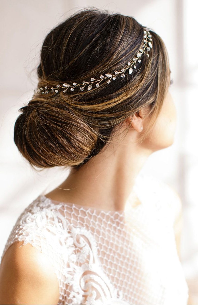 12 Wedding Hair Accessories For Every Type Of Bride – Stunning Regarding Most Current Bedazzled Chic Hairstyles For Wedding (View 14 of 20)