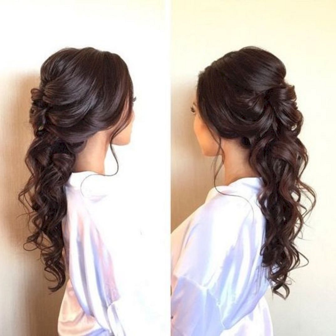 15 Beautiful And Adorable Half Up Half Down Wedding Hairstyles Ideas Within Trendy Voluminous Half Ponytail Bridal Hairstyles (Gallery 1 of 20)