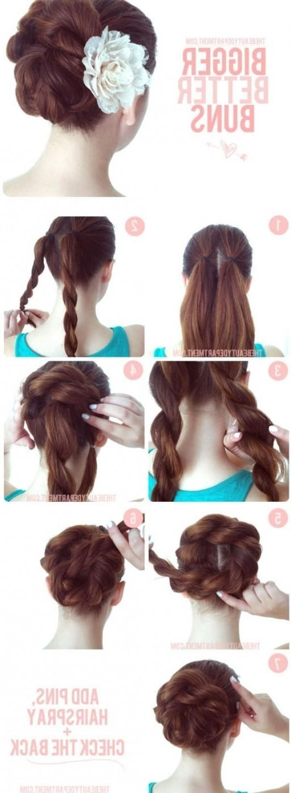 15 Braided Bun Updos Ideas – Popular Haircuts Pertaining To Well Known Low Twisted Bun Wedding Hairstyles For Long Hair (Gallery 12 of 20)