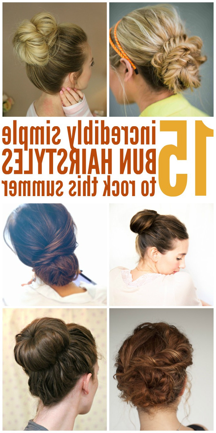 15 Easy Bun Hairstyles To Rock This Summer With Regard To Preferred Low Twisted Bun Wedding Hairstyles For Long Hair (Gallery 10 of 20)