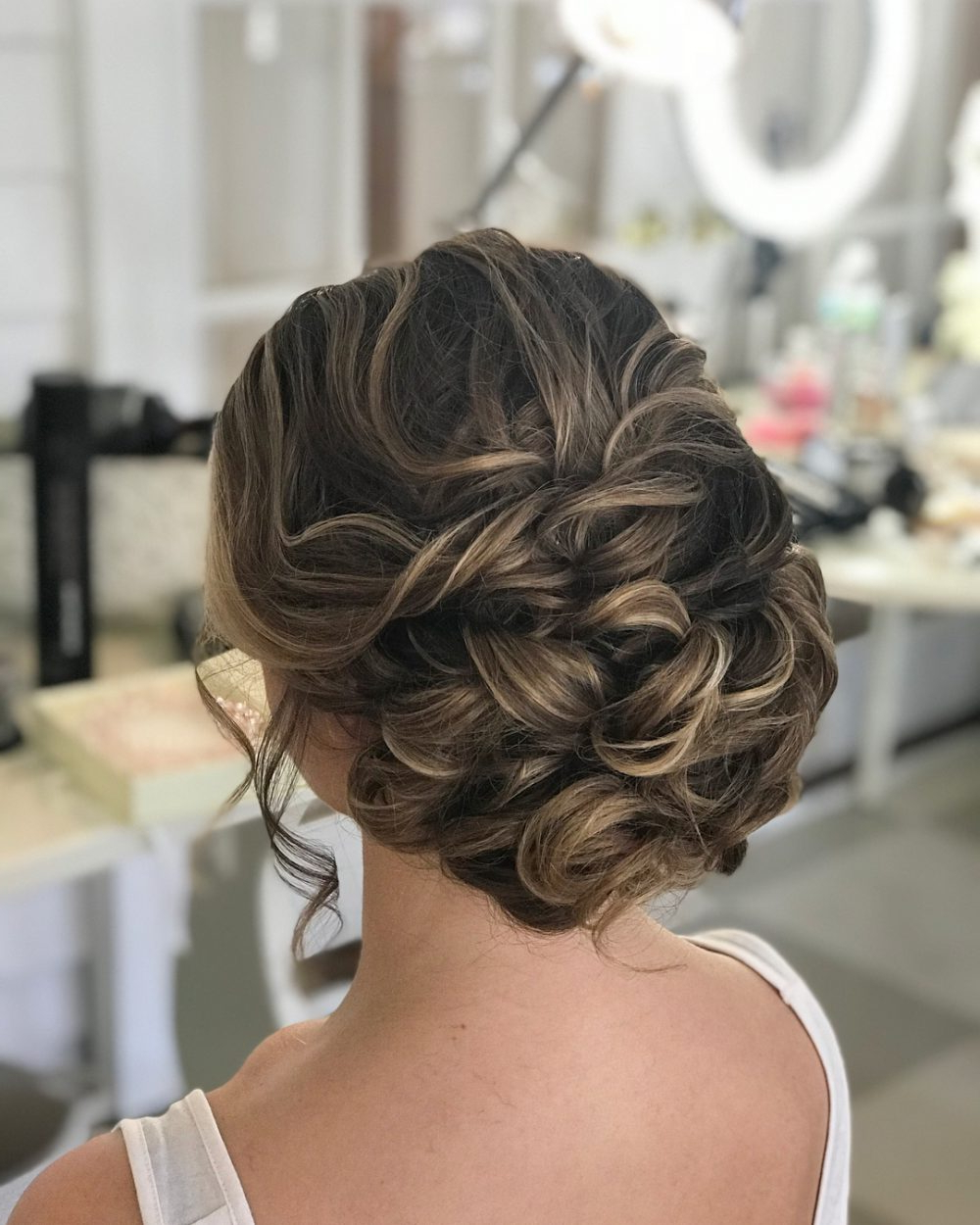 15 Gorgeous Wedding Updos For Brides In 2019 With Regard To Most Up To Date Brushed Back Bun Bridal Hairstyles (Gallery 20 of 20)