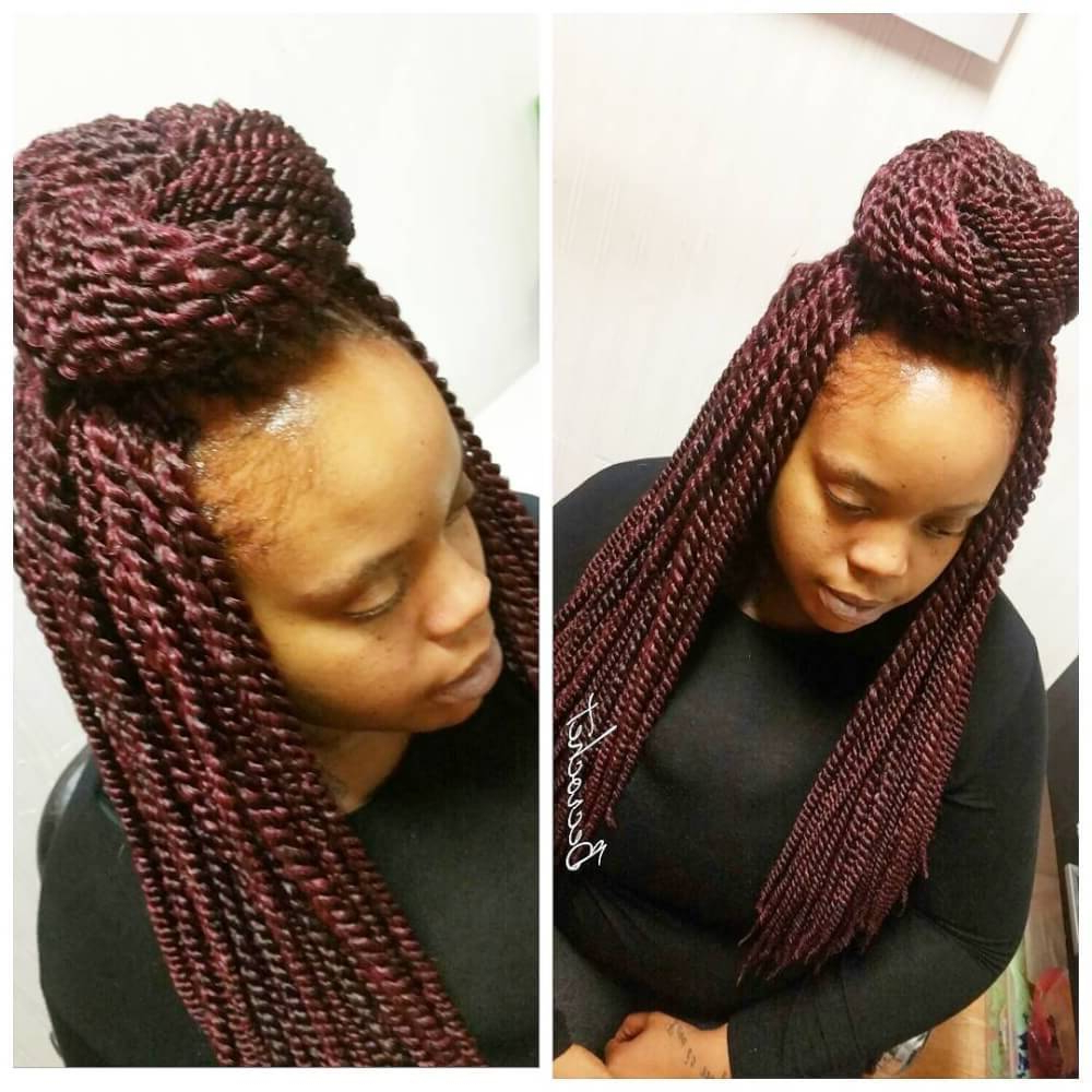 17 Hottest Crochet Hairstyles In 2019 – Braids, Twists & Faux Locs Within Recent Darling Bridal Hairstyles With Circular Twists (Gallery 11 of 20)