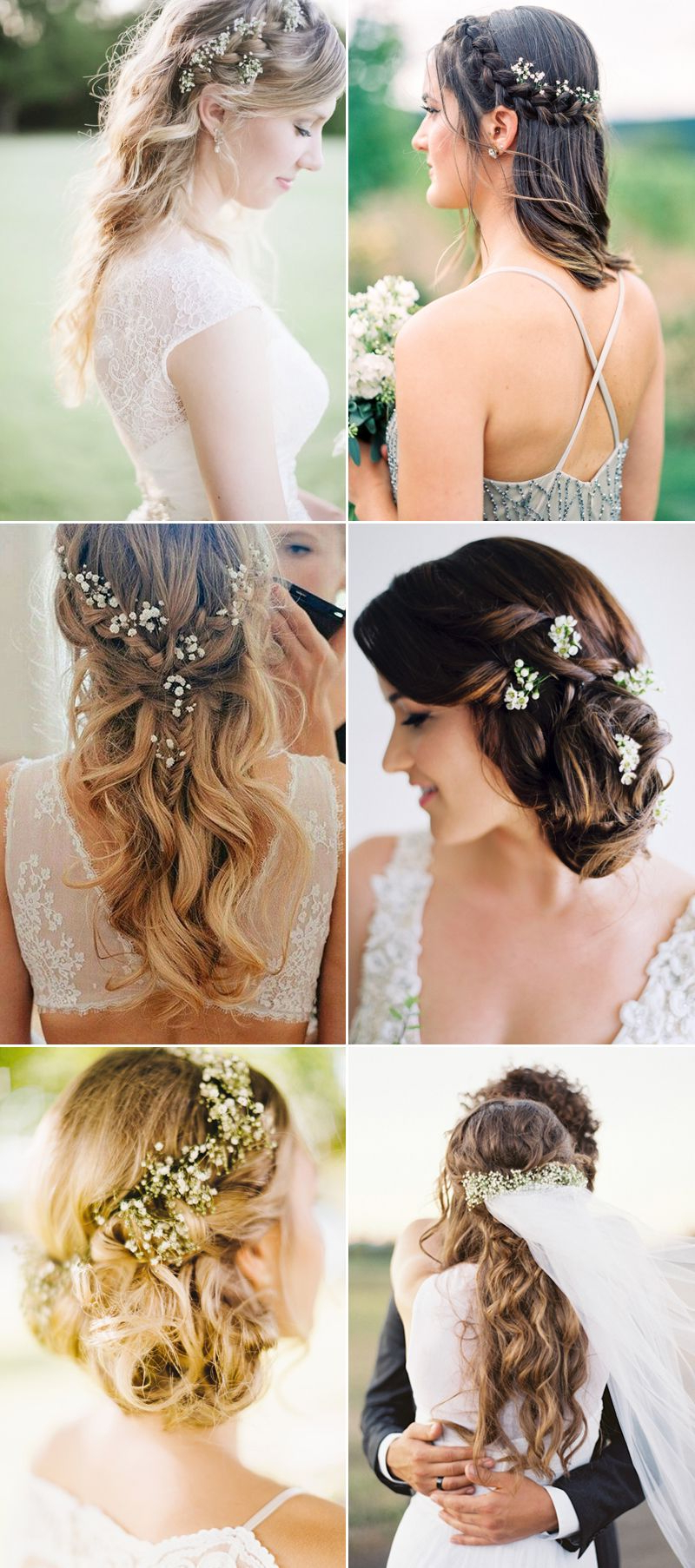 20 Adorable Ways To Wear Baby's Breath In Your Hair (Gallery 12 of 20)