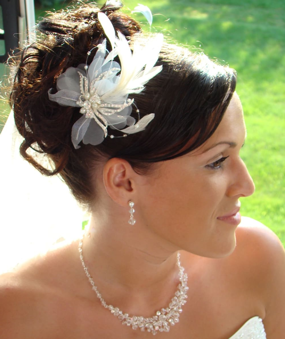 20 Stunning Wedding Hair Updos To Inspire Every Bride – Hairstylevill With Popular Swirled Wedding Updos With Embellishment (Gallery 20 of 20)